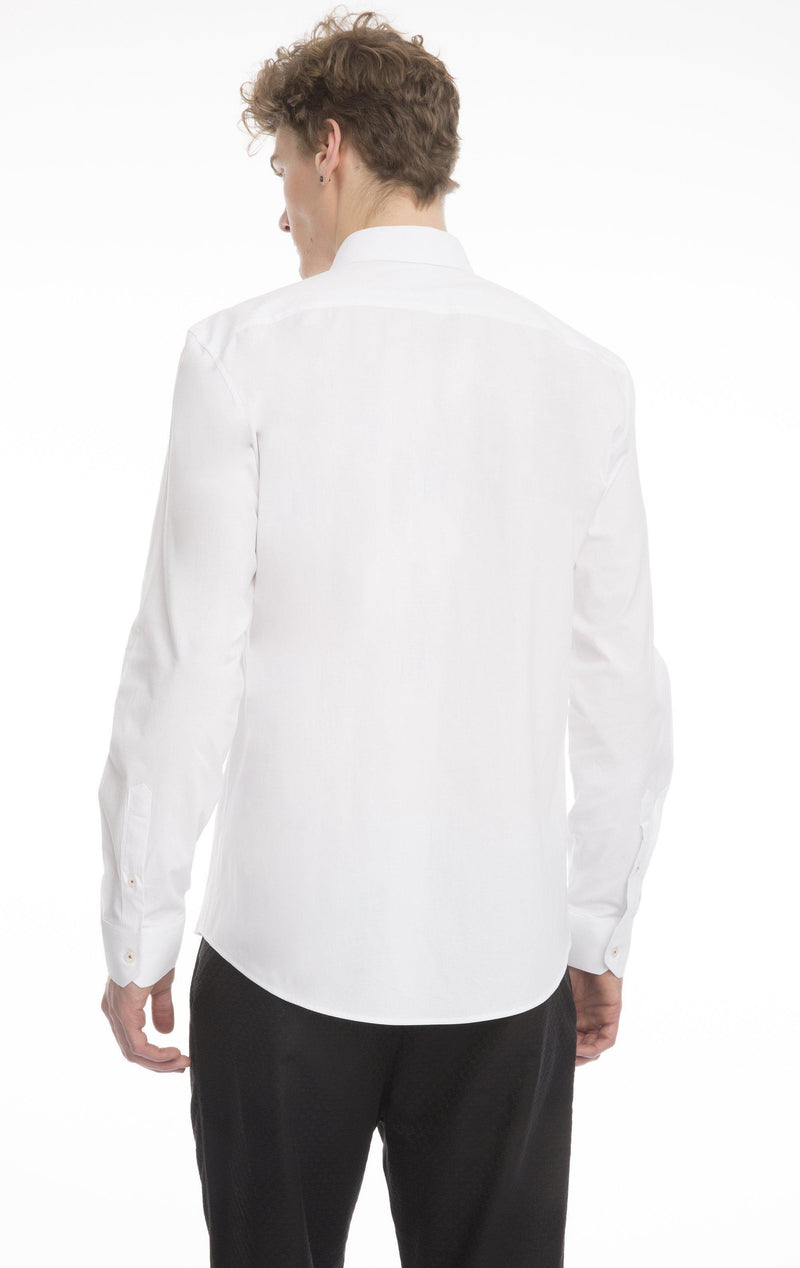 Tonal Cord Zipper Fitted Shirt - Ron Tomson