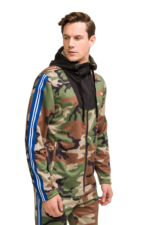 TRACK JACKET - CAMO - Ron Tomson
