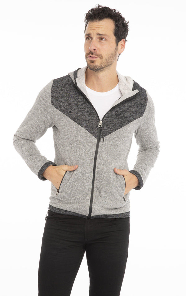 Track Sport Hoodie - GREY - Ron Tomson