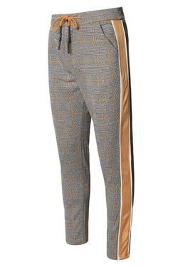 Tuxedo Stripe Fitted Track Pants - New Yellow