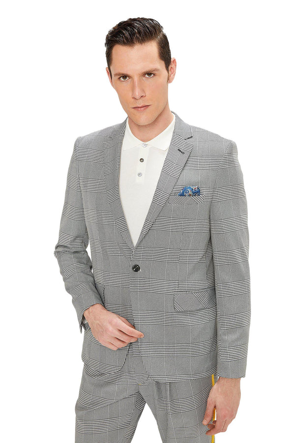 Two Button Slim Fit Blazer - Black 1