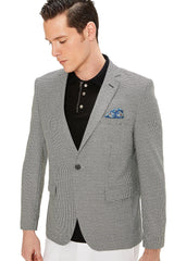 Two Button Slim Fit Blazer - Black - Ron Tomson
