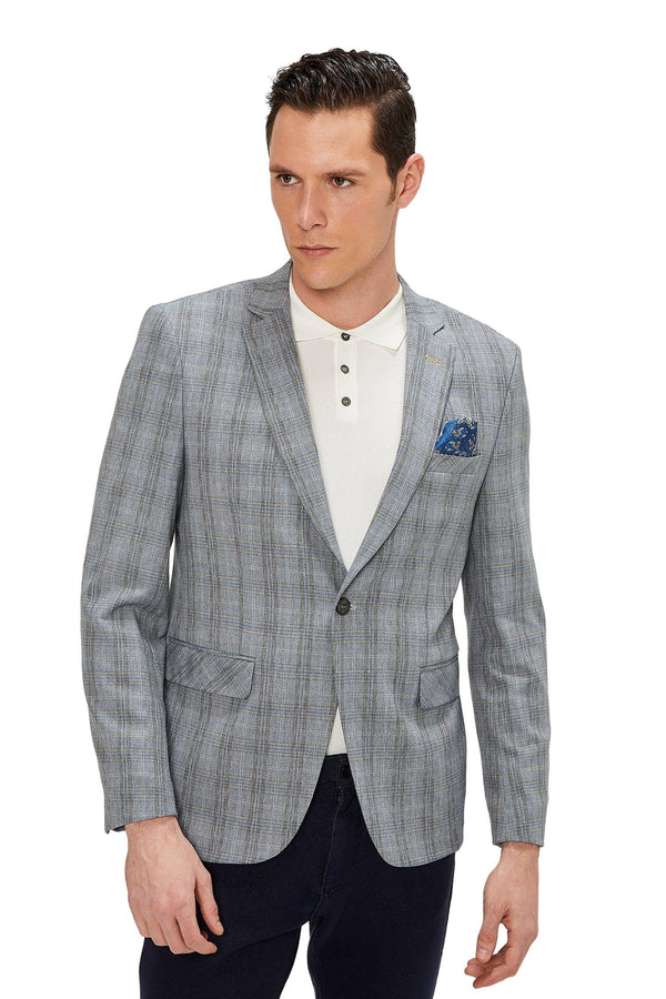 Two Button Slim Fit Blazer - Dark Grey