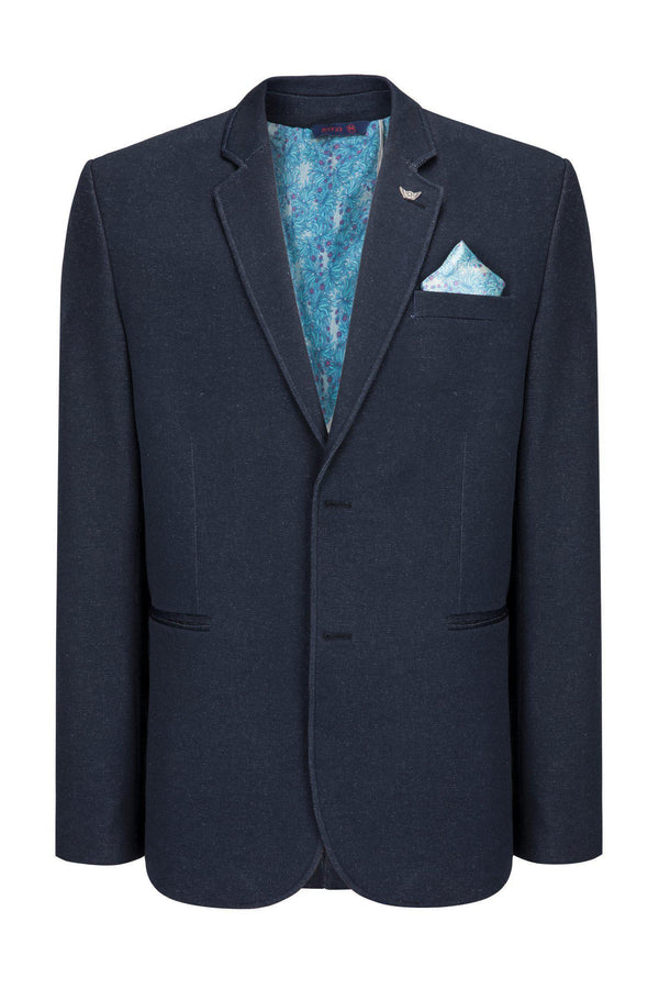 Two Button Slim Fit Blazer - Dark Navy