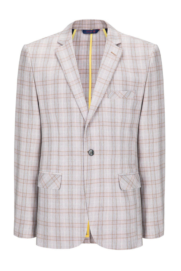 Two Button Slim Fit Blazer - Pink