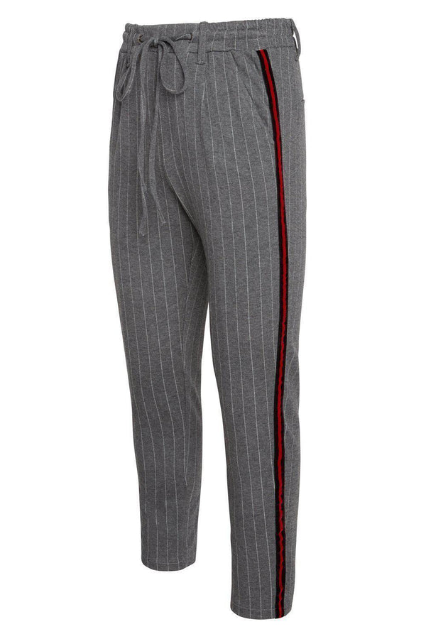 Velvet Night Joggers - Grey Stripe