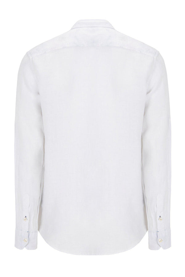 WASHED WHITE LINEN SHIRT