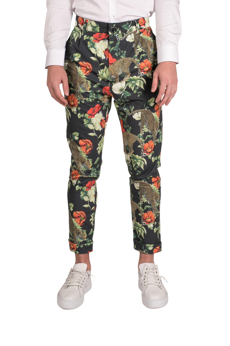 Wild Printed Trousers-TROUSERS-RON TOMSON-JAGUAR-S-Ron Tomson