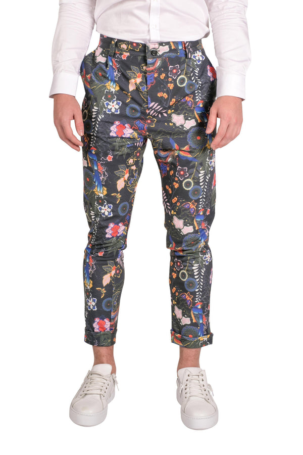 Wild Printed Trousers - Parrot-TROUSERS-RON TOMSON-PARROT-S-Ron Tomson