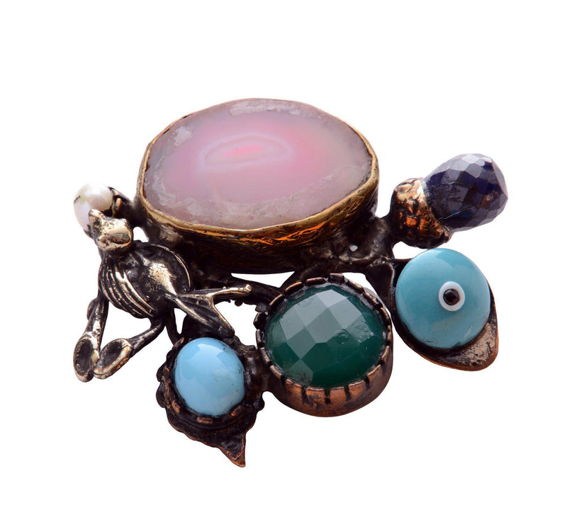 Wings and Stones Pendant Brooch - Ron Tomson