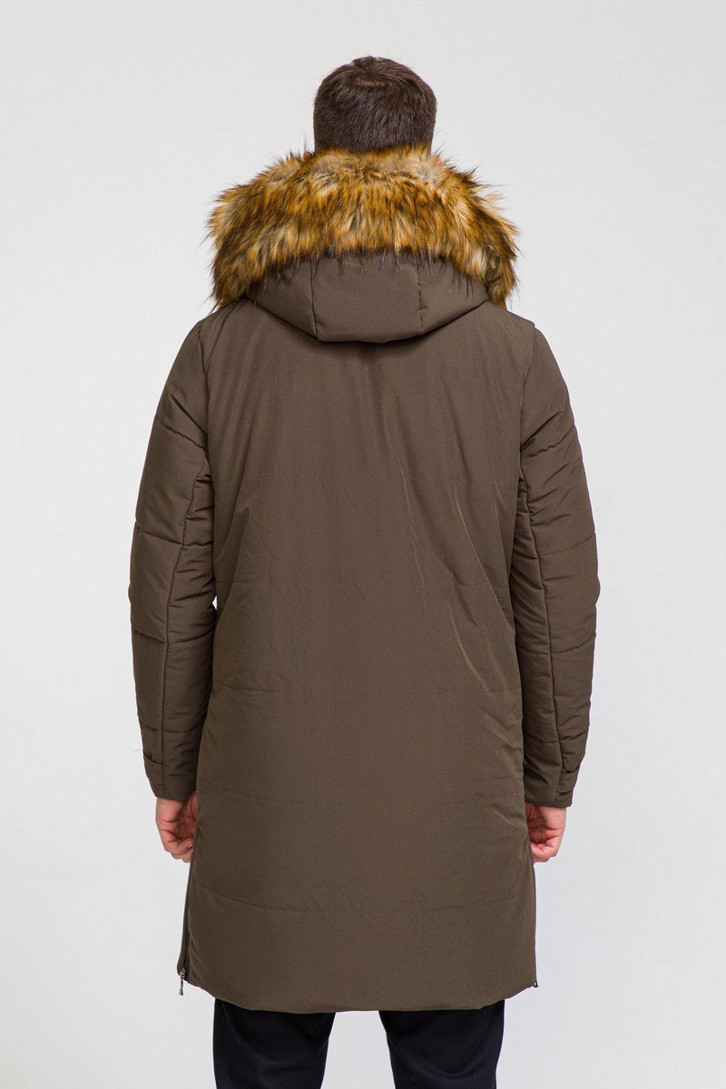 Winnipeg Full Length Down Jacket  - KHAKI - Ron Tomson