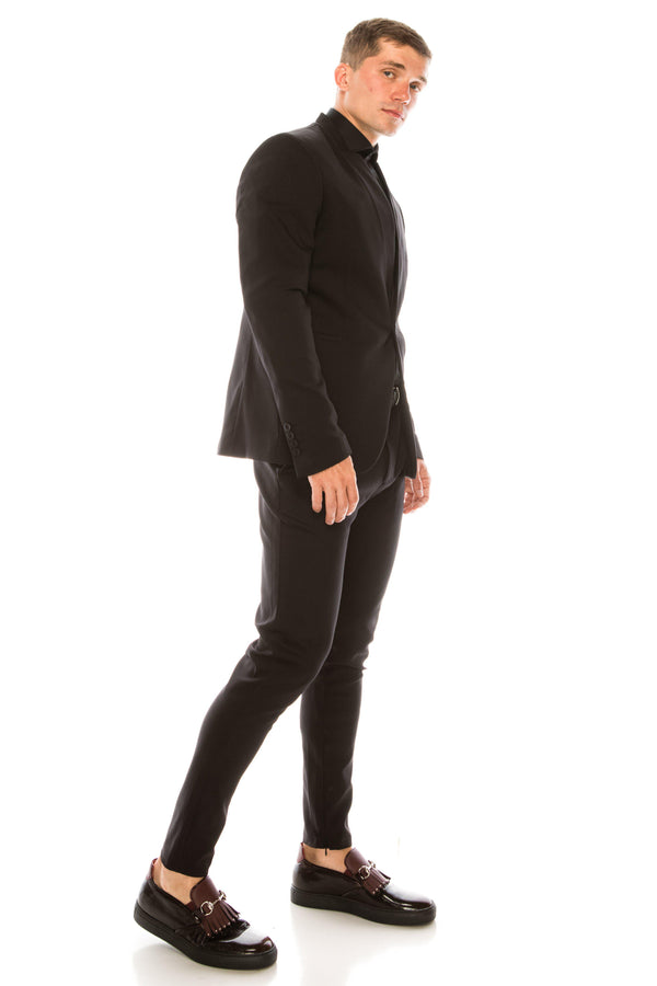 Wrinkle free super stretch tech HYBRID BLAZER- Black