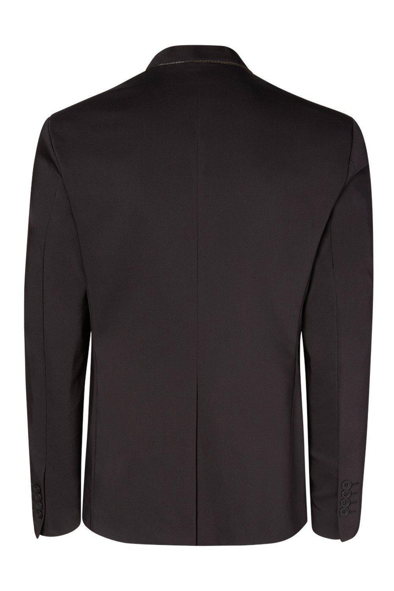 Wrinkle free super stretch tech HYBRID BLAZER- Black - Ron Tomson
