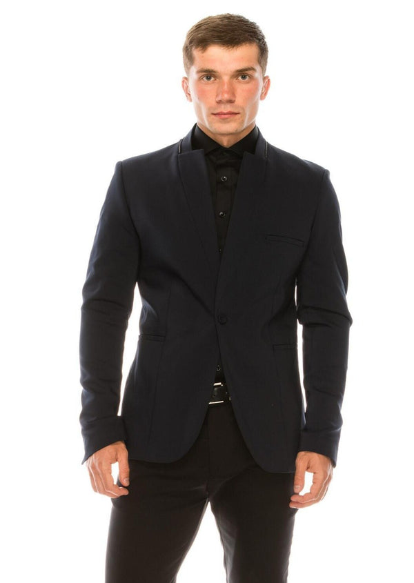 Wrinkle free super stretch tech HYBRID BLAZER- NAVY - Ron Tomson