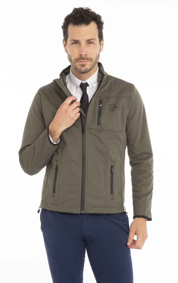 Zipper Trainer Jacket - GREEN