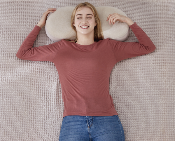 BEAN PILLOW: Smoothly and Ergonomically Turn While You Sleep