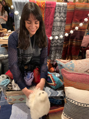 Yours Truly Playing with Alpaca Toys at the green point Market