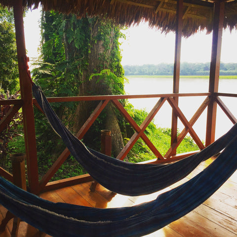 Amazon River Rainforest Lodge Hammock Jungle Hut
