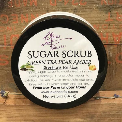 Sugar Scrub, Green Tea Pear Amber 5 oz
