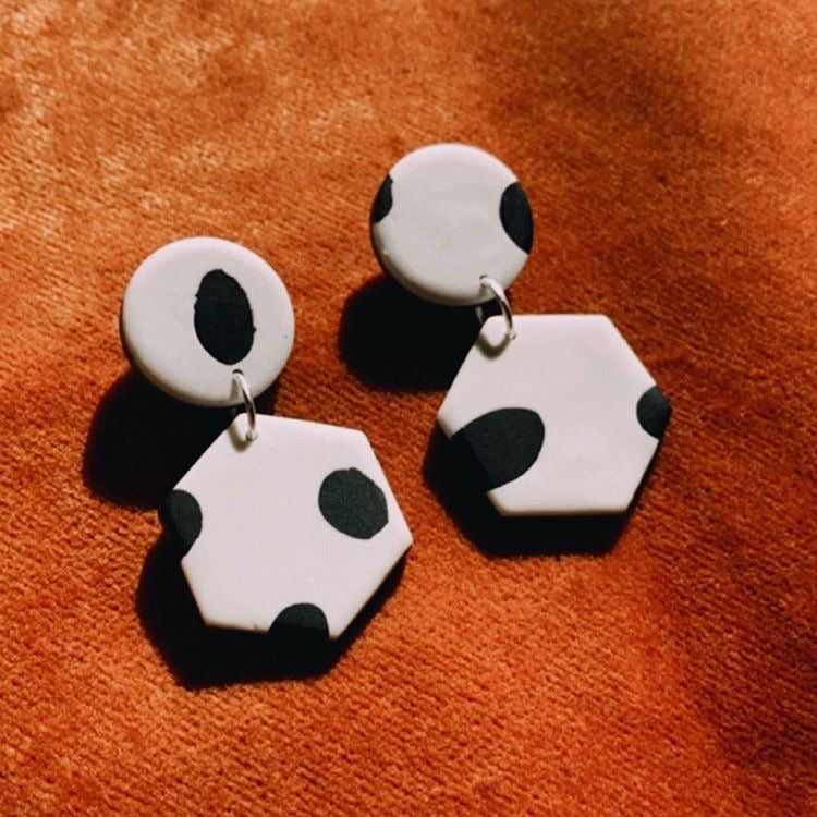 Claire Earrings in Moo Milk