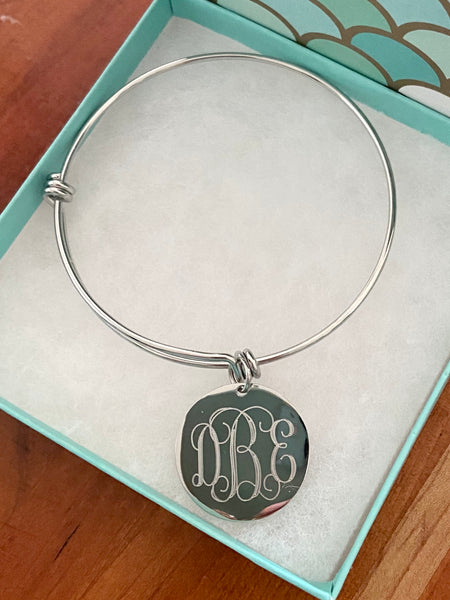 Custom Engraved Monogram Bracelet