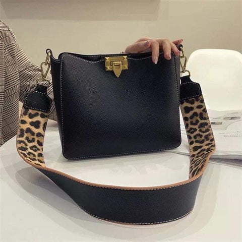 Black Leopard Purse Set