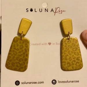 Dani Earrings- All Gold Leopard