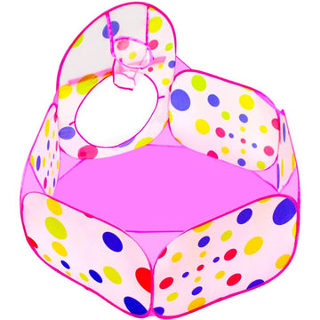 Pop-up Tent, Tunnel, & Ball Pit (Pink)