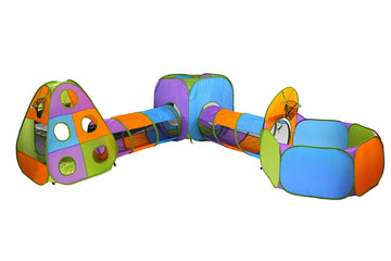 Jungle Gym Playhouse (Orange Blue Green Purple)