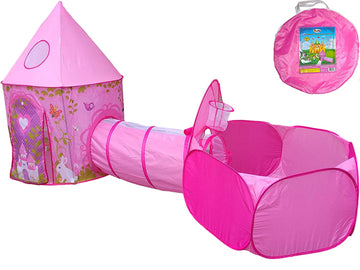 Princess Castle Tent, Tunnel, & Ball Pit
