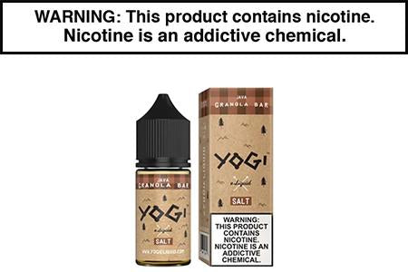 JAVA GRANOLA BAR BY YOGI E LIQUID SALT