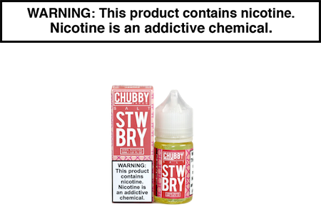 STRAWBERRY BY CHUBBY BUBBLE VAPES NIC SALT
