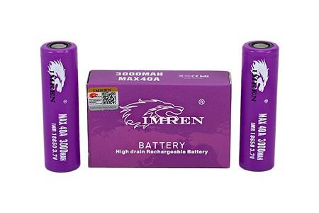 IMREN 3000MAH MAX40A PURPLE BATTERY