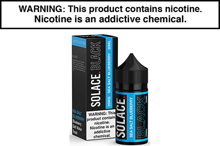 SEA SALT BLUEBERRY BY SOLACE BLACK NICOTINE SALT