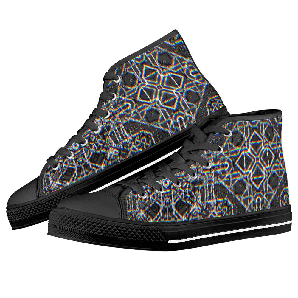 "Daniel W Prust - ""Rainbow Grid"" High Top - Limited Edition of 111"