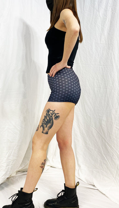 Flower of Life Booty Shorts