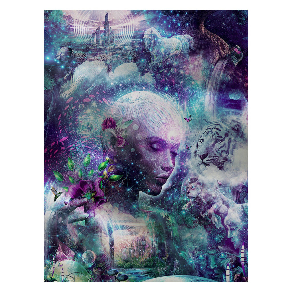 "Cameron Gray - ""Discovering the Cosmic Consciousness"" 60""x80"" Fleece Blanket"
