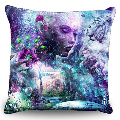 "Cameron Gray - ""Discovering the Cosmic Consciousness"" Couch Pillow (16""x16"")"