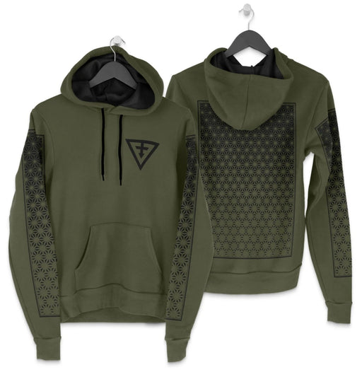 First Earth - Asanoha Hoodie - Green