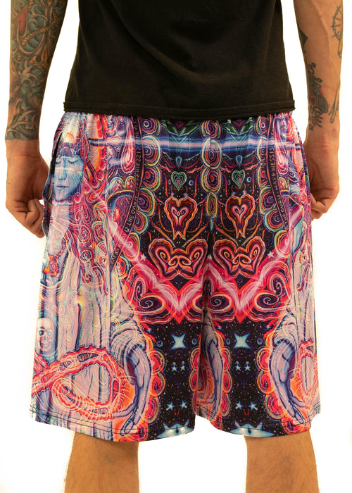 NEW Fabric! Limited Edition of 111 - John Speaker - Guardian's Grace - Gym Shorts