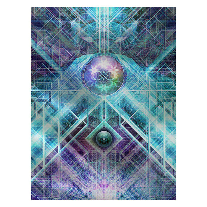 "Solstice Son - ""Geometric Genesis"" 60""x80"" Fleece Blanket"