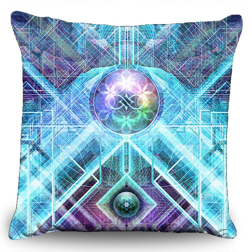 "Solstice Son - ""Geometric Genesis"" Couch Pillow (16""x16"")"