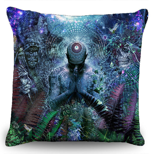 "Cameron Gray - ""Gratitude for The Earth and The Sky"" Couch Pillow (16""x16"")"