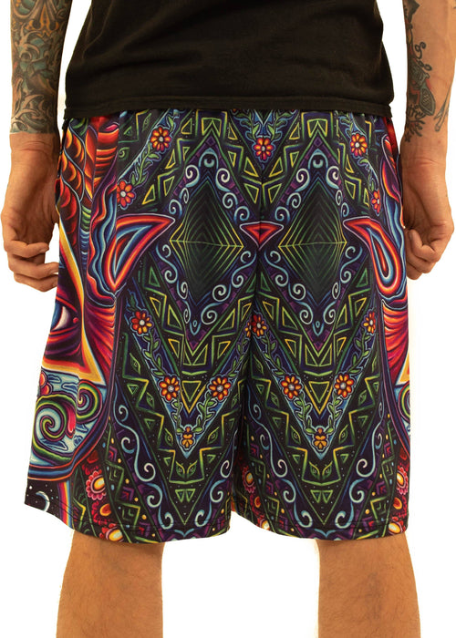 NEW Fabric! Limited Edition of 111 - John Speaker - Hamsa Hand - Gym Shorts
