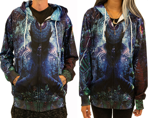 Limited Edition of 111 - Cameron Gray - Gratitude for the Earth and Sky Zip Up Hoodie