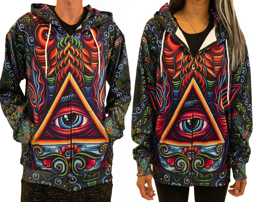 NEW! Limited Edition of 33 - John Speaker - Hamsa Hand - Zip Up Hoodie