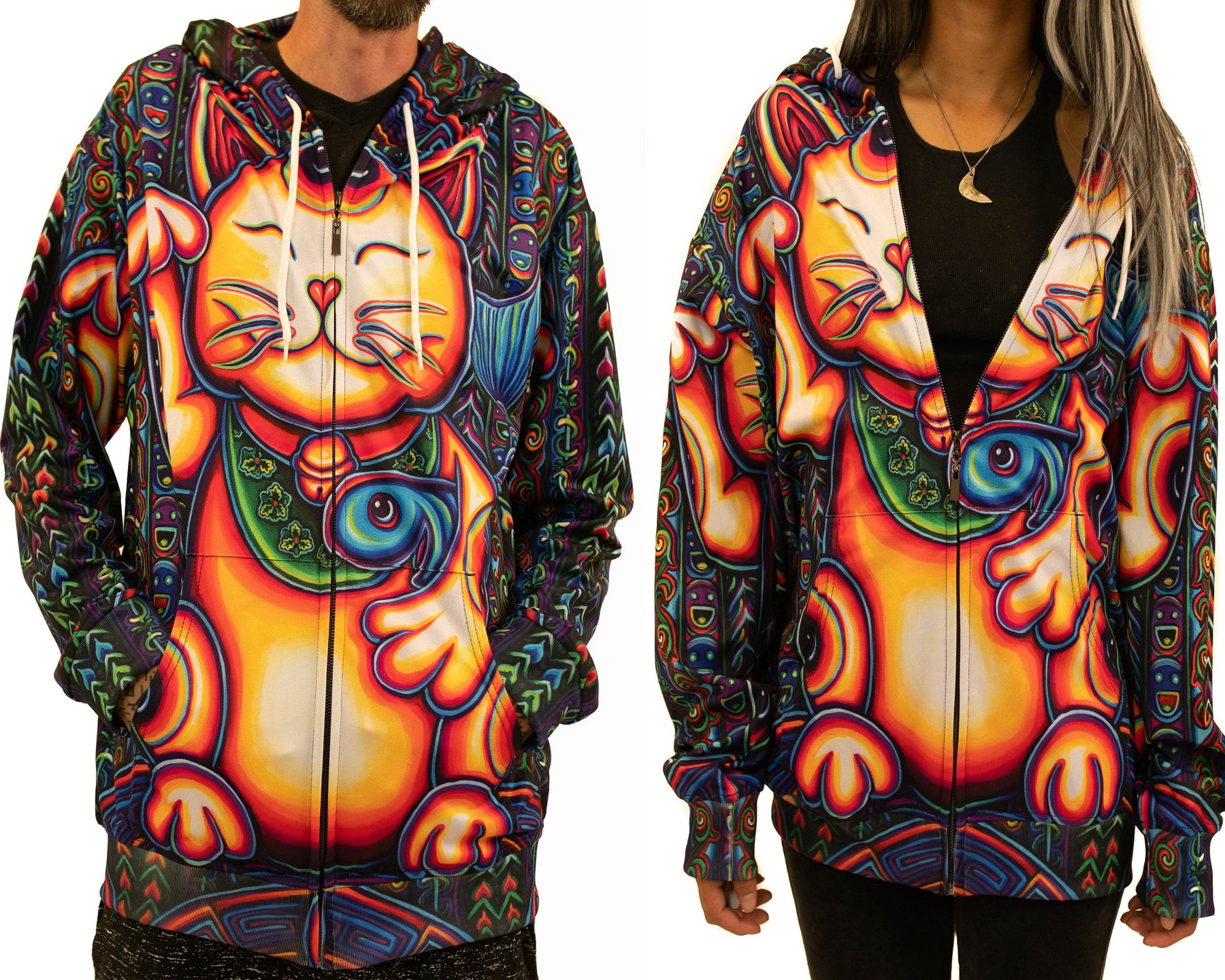 NEW! Limited Edition of 33 - John Speaker - Lucky Cat - Zip Up Hoodie