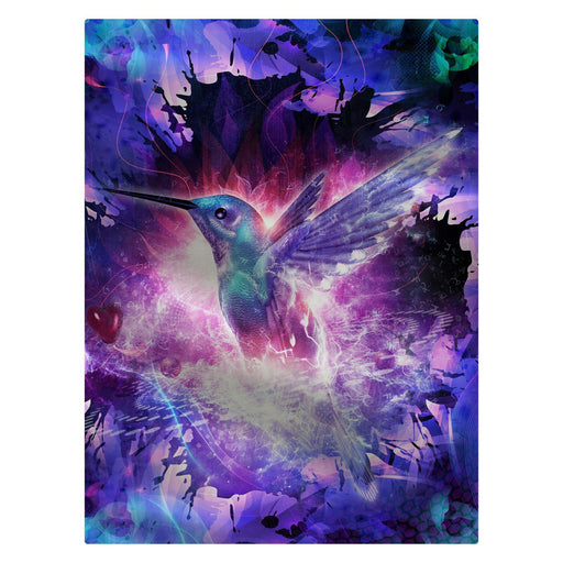"Cameron Gray - ""Hummingbird Love"" 60""x80"" Fleece Blanket"
