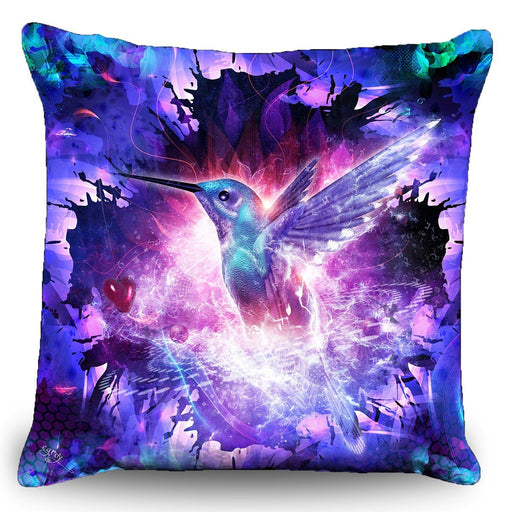 "Cameron Gray - ""Hummingbird Love"" Couch Pillows (16""x16"")"