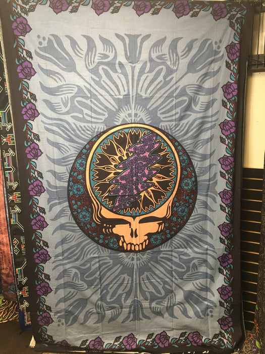"Sunshine Joy - ""Dead Head"" Purple&Blue - 60' X 90' TAPESTRY"